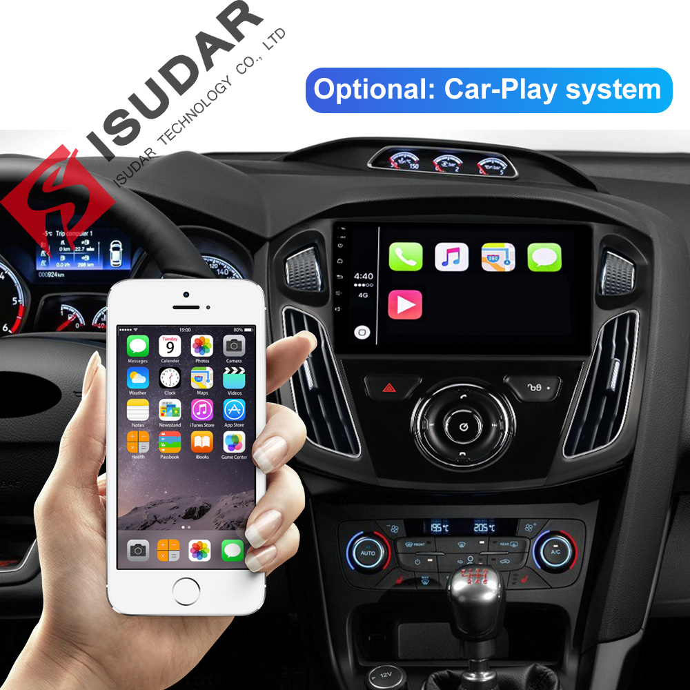 Isudar 1 Din Auto Radio Android 9 For Ford Focus 3 2012 2014 Car Multimedia Stereo Player GPS Octa Core RAM 4GB ROM 64GB DSP DVR in Car Multimedia Player from Automobiles Motorcycles