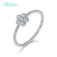14K Gold Flower Prong Setting Classic Top Quality Ring Jewelry For Women Gift