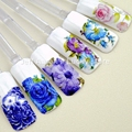 12 unids etiquetas engomadas del clavo de transferencia de agua calcomanías de uñas consejos decoraciones del arte herramientas de La Belleza de la flor diseño