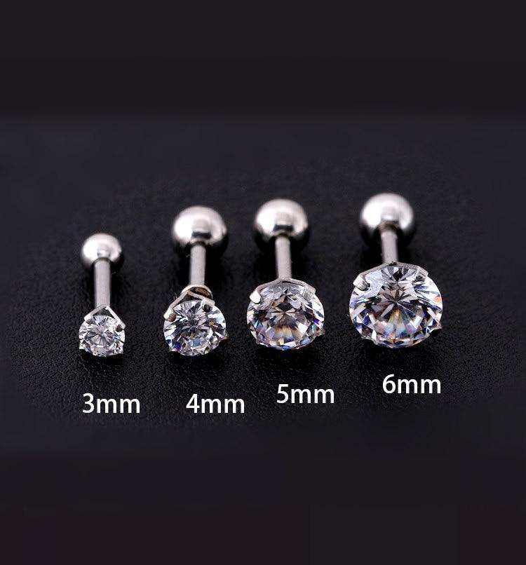10 mm Choisissez votre taille Round Jet Black Zircon 10K or Blanc Boucles D/'oreille 2 mm