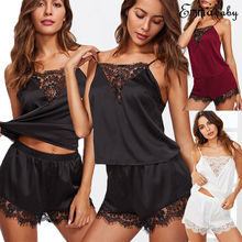 Pijama Shein Pyjamas Women Sexy  Sleepwear Silk Satin Pajamas Set Pyjama Nightwear Loungewear Homewear