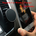Top 360 Degree Car QI Wireless Charger Holder Magnetic Air Vent Mount Dock for iPhone qi receiver case/Samsung S6/S7 Smartphones