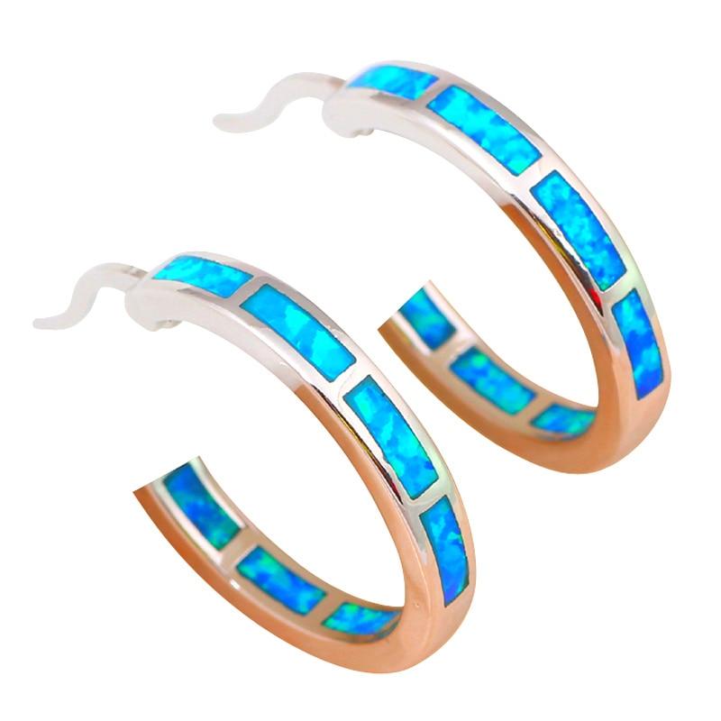 brincos engros super leverandør nye blå brand opal sølv stemplet - Mode smykker - Foto 3