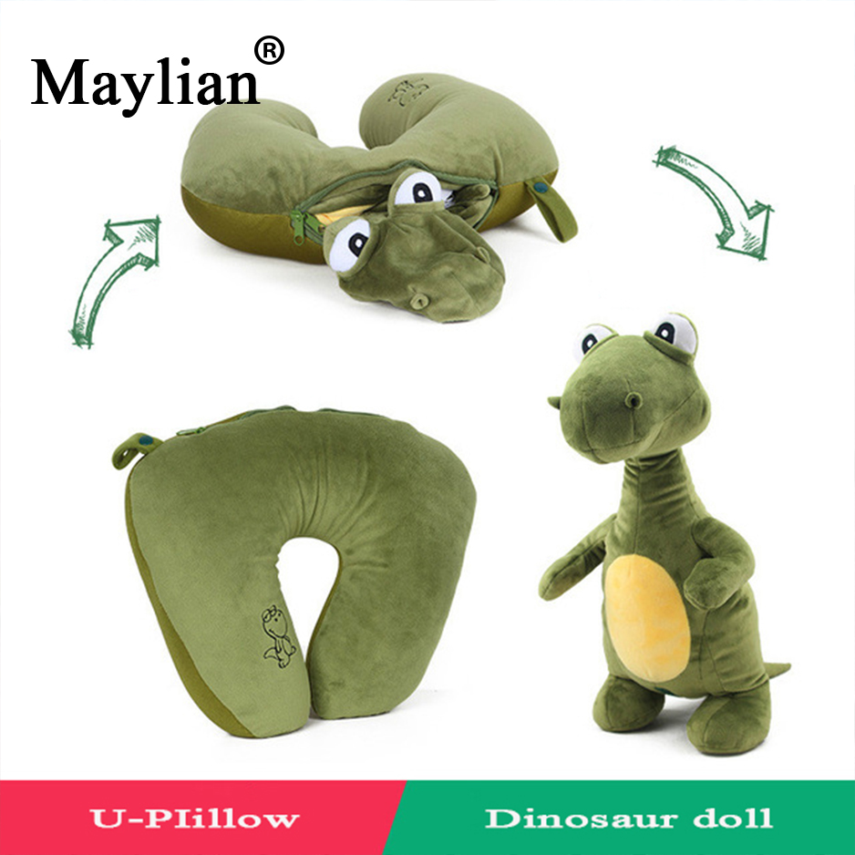 Multi-functional Cute Animal Dolls and U Shape Pillow Neck Travel Pillow Rest Cushion Sleeping Easy-Taking Cartoon Pillows p15