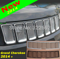 For Jeep Grand Cherokee 14 + Front 3D Mesh Racing Grille Insert Prevent Bug Dirt Grills Stainless Steel Silver/Black