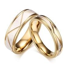 2017 новый уникальный простой titanium сталь ромб дизайн кольца пара для женщин мужчин день святого валентина романтический кольцо подарок ювелирных изделий rs077