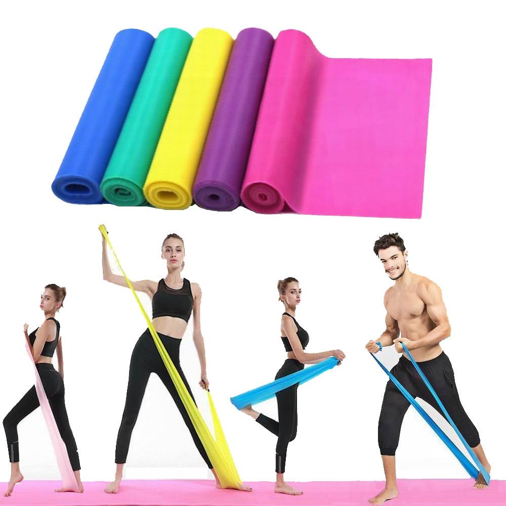 Gymnastics Elastic Training Resistance Bands Pilates Yoga Stretch Fitness US