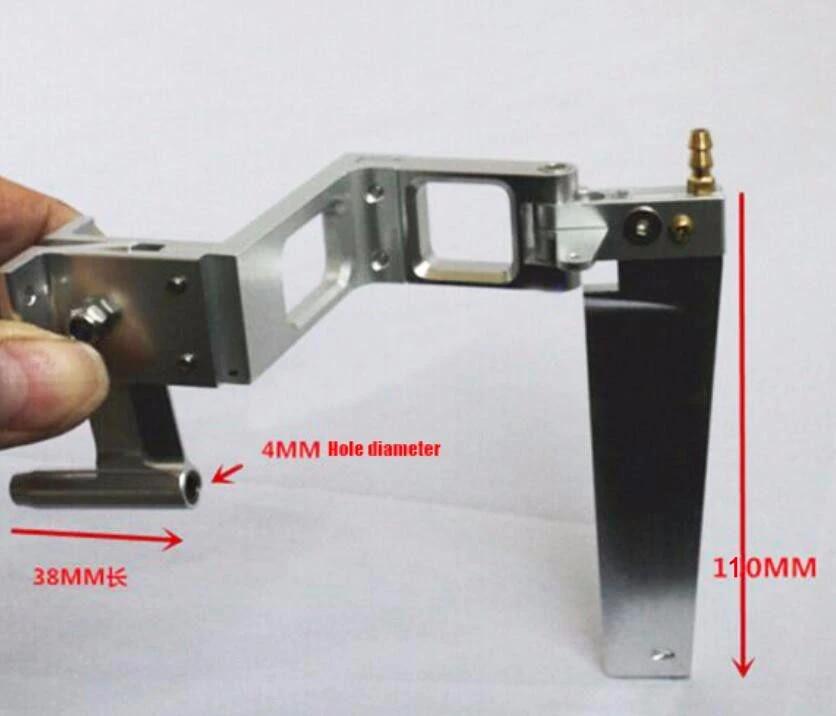 Details about  /Boat 4mm Flexible Shaft Kit+Shaft Bracket Holder+110mm Water Steering Rudder❤TU