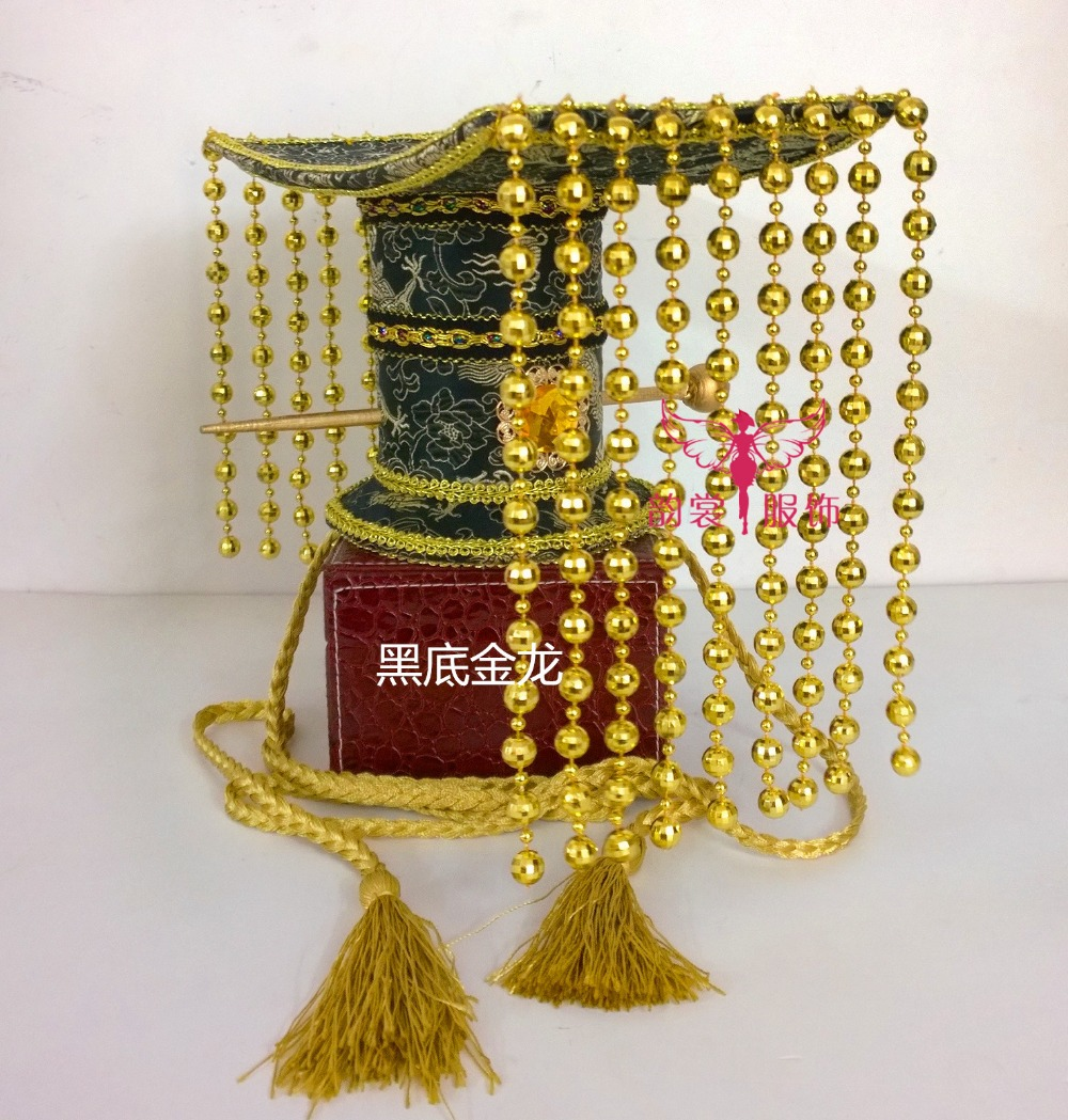 ФОТО Black and Coffee 2 Colors Hair Tiara Ancient Chinese Emperor or Prince Costume Hair Crown Piece Cosplay Use for Kids Little Boy