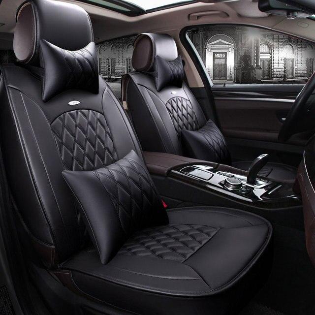 Skórzane pokrycie siedzenia samochodu obejmuje akcesoria ...