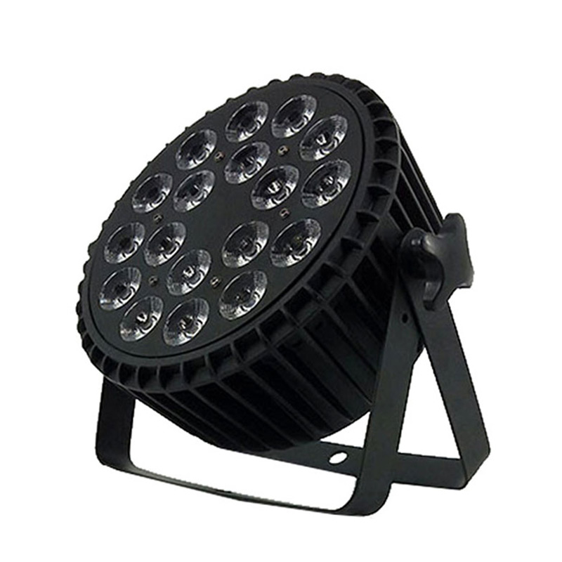 SHEHDS Aluminum Alloy LED Flat Par 18x18W RGBWA Light UV Wireless DMX 512 Stage Lighting DJ Disco Projector