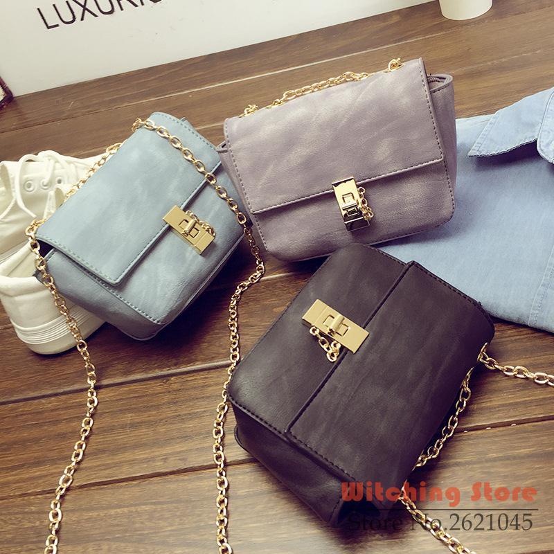 Perfect#  new fashion handbags tide South Korea version of the mini chain lock s