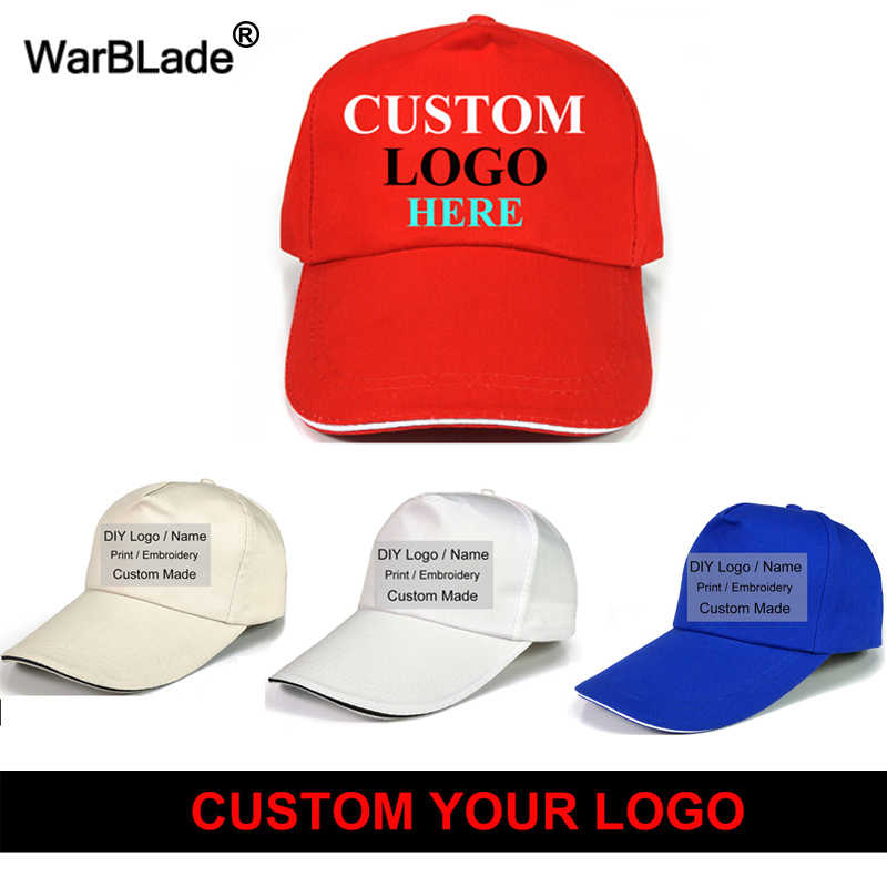 ab8946aebe9 Wholesale Custom Baseball Cap Print Logo Design Embroidery Gorra Casual  Solid Hats Black Snapback Caps For Men Women Top Quality