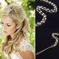 Женщины имитация жемчуга тиара Boho шик свадебные глава сеть аксессуары для волос ювелирные изделия шпилька Hairband для свадебное фото ну вечеринку
