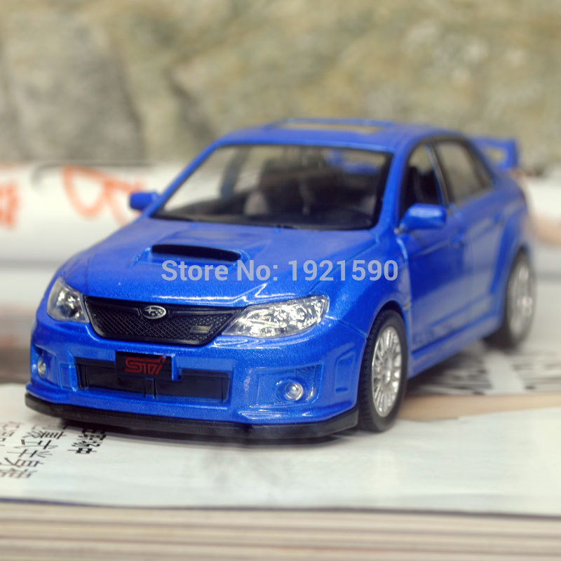 UNI 1/36 Scale Car Toys Japan Subaru STI Diecast Metal Pull Back Car Model Toy For Gift/Collection/Kids