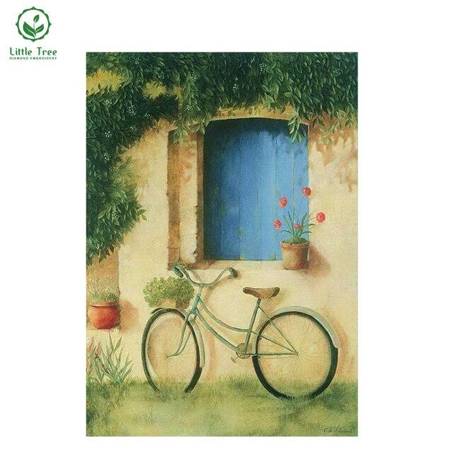 Little Tree Bike window 3d diamond painting Full square drill diy ...