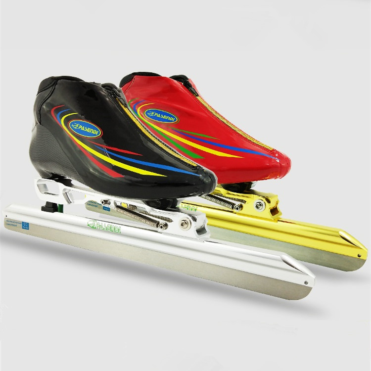 clap long track ice skate Champion ice skating shoes black RED skates for Hockey shooes Ice shoes 380 410 430 ice blade pasendi free shipping ice blade short track 380 410 430 mm