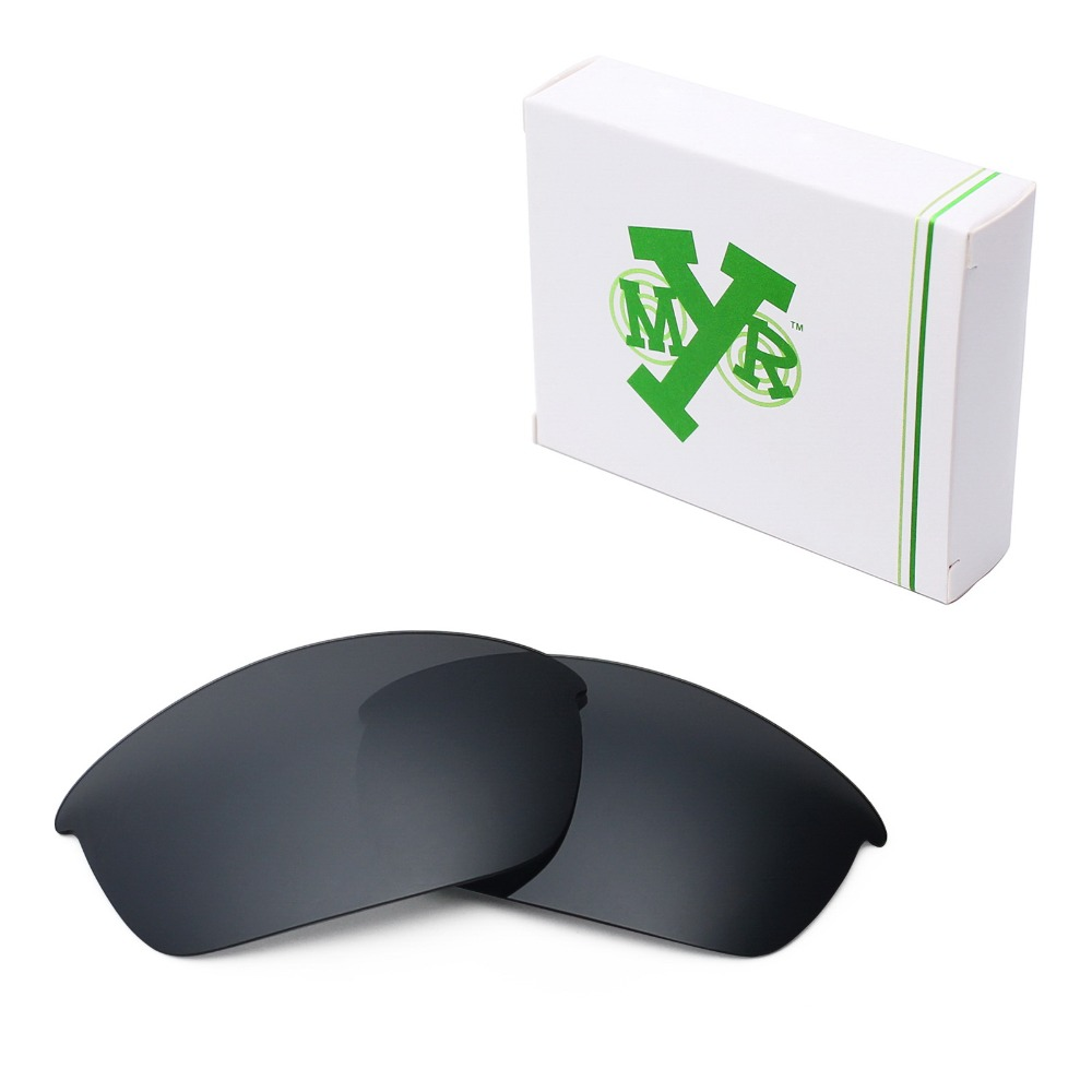 1106afb10e Mryok POLARIZED Replacement Lenses for Oakley Flak Jacket Sunglasses Black  IR