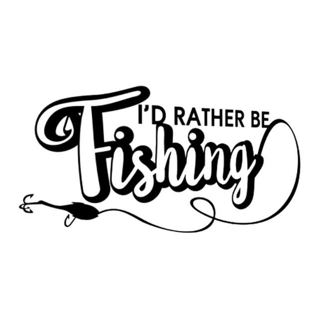15 1cm7 9cm id rather be fishing vinyl stickers decals car styling