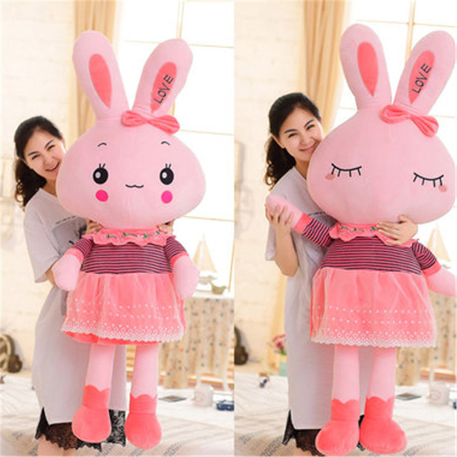 Rabbit Plush Toy Lot Stuffed Animals Large Hare Cushion Pillow Christmas Birthday Gifts Peluche Kids Toys For Girls Soft 70A0366