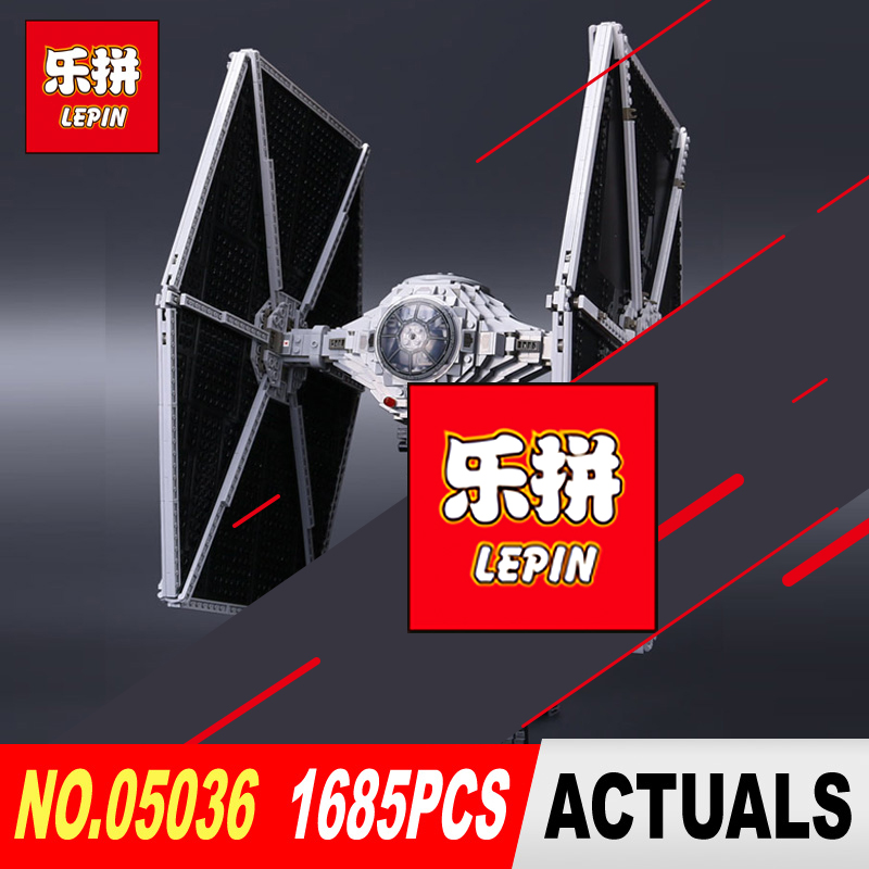 Lepin 05036 Star 1685pcs Wars The Tie Building Fighter Educational Blocks Bricks Toys Compatible legoed 75095 to Brithday Gifts lepin 05060 star series wars ucs naboo star type fighter aircraft model building blocks bricks compatible legoed 10026 toy gifts