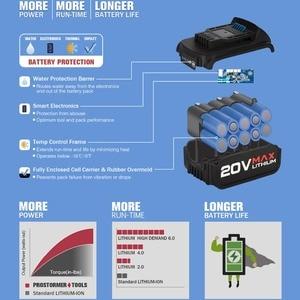 Image 5 - PROSTORMER 20V elektrikli tornavida akülü matkap 30 adet kutu ile esnek şaft güç aracı lityum pilli LED ışık Mini matkap