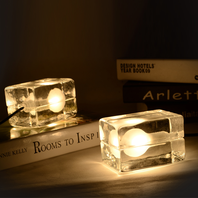 Novelty Lighting Modern Ice Block Cube Table Lamps Home Bedroom Study Room Desk Lights Bedside Lamps 12cm * 8cm * 8cm G9 bulbs modern ghost shadows bedroom bedside table lamps reading desk lights art home and room decorations tll 3