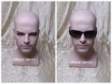 Fiberglass realistic mannequin men,plus size mannequins,mannequin dummy head,sunglass head display