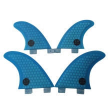 Surf FCS fins fin G3+GL 4pcs per set blue color in surf
