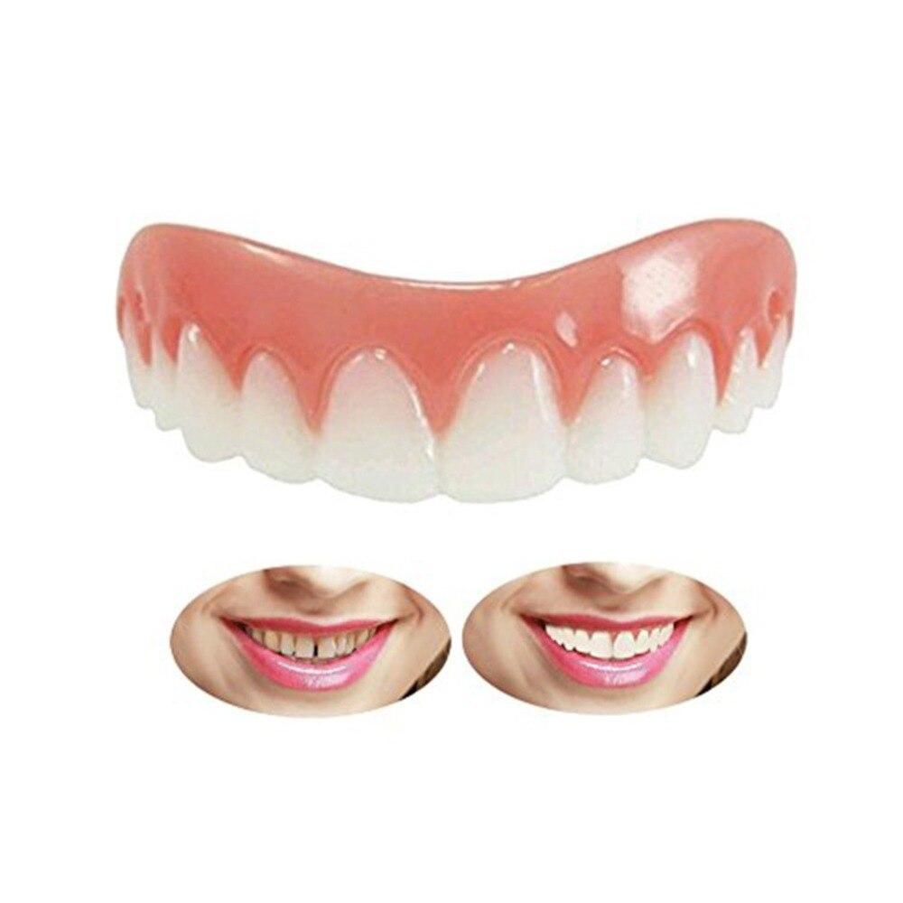 Natural Silicone Perfect Smile Veneers Men Women Teeth Upper Cosmetic Veneer Tooth Cover Beauty Tool Teeth Whitening