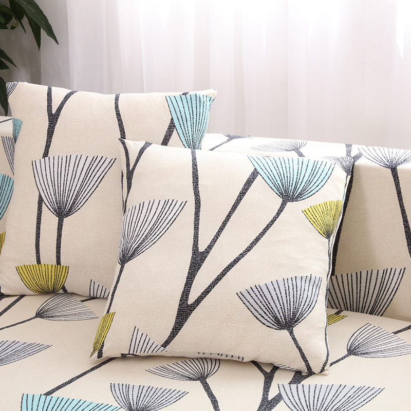 Sofa Cover 1/2/3 Seats Single Double Sofa Funiture Cover Design 11 Colors Polyester Floral Bird Upholstered Sofa