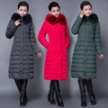 Fashion Long Thick Warm Cotton Women Fur Collar High Quality Winter Women Down Jacket   Parka Plus Size Slim Coat  Overcoat