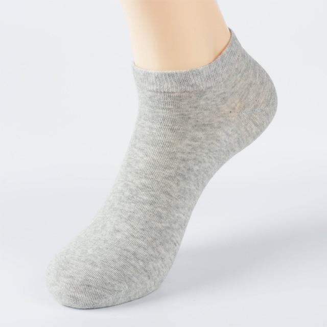 HSS New Brand Spring Summer Cotton Ankle Socks Business Mens Sock Thin Black Leisure Solid Color Short Socks Big Size 6Pairs/lot Socks