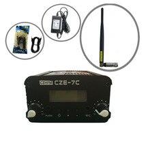 czh fmuser cze-7c 7w pll fm стерео передатчик 76-108mhz+rubber антенны kit