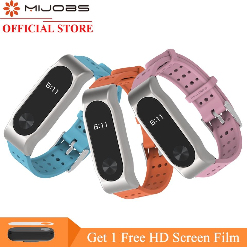 Mijobs Bracelet For Xiaomi Mi Band 2 Strap Silicone Strap Mi Band 2 Bracelet Wristband Miband 2 Wrist Strap For Xiaomi Mi Band 2