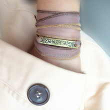 6 Colors for Option Boho Triple Wrap Sari Silk Ribbon Bracelet Gift For Her Rustic Chic Yoga Gift