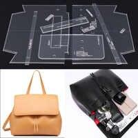 Single Shoulder Satchel Bag Handbag pattern DIY handmade leather leather durable acrylic mould 29x24x9cm