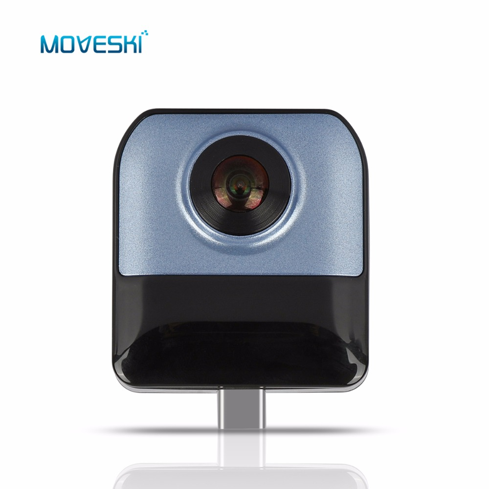 Moveski 720 VR Camera HD Video Panoramic View Wide Angle Dual Fisheye Lens Camera H.264 For Android Smartphone 720 360 degree panoramic camera vr camera hd video dual wide angle lens real time seamless stitching for android smartphone