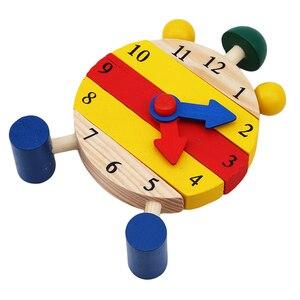 Image 5 - 1 Pc מונטסורי עץ פאזלים צעצועים לילדים דיגיטלי זמן למידה חינוך חינוכיים משחק תינוקות ילדים מיני פאזל שעון