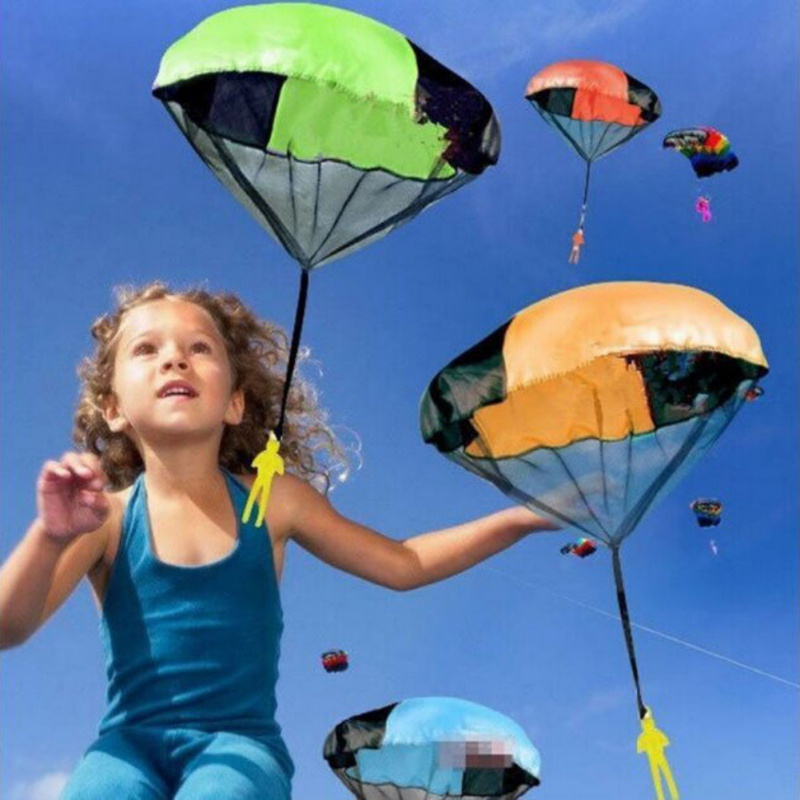 Parachute Throw And Drop Toys For Boys Set Outdoor Fun Toy Outdoor Sports Toys For Kids Parachute Toy With Doll Children Gifts
