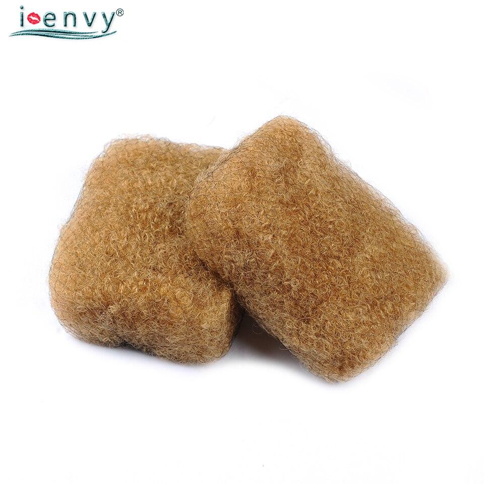 IEnvy miel blond péruvien Afro crépus en vrac cheveux humains tresses 2 Pcs/Lot 27 couleur crépus bouclés tressage cheveux pas de trame Non Remy