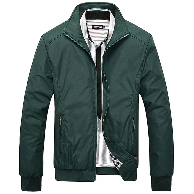 Men's Jacket Spring Autumn Overcoat 2016 Middle Aged Men Fashion Stand Collar Slim Casual Style Businese Jackets Men M-5XL