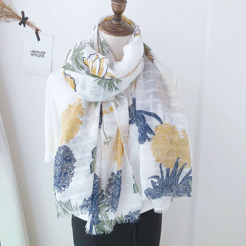 sweet lolita scarf шарфы женские bufanda mujer mori girls autumn spring Japanese style long fresh floral neck scarf