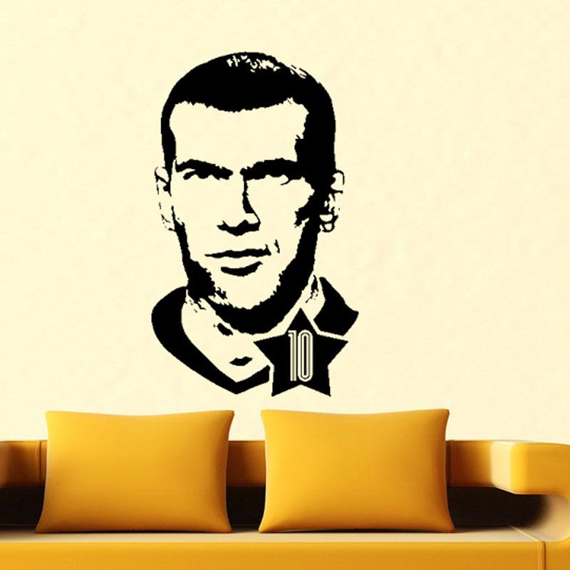 aliexpress : buy the famous football player zinedine zidane art