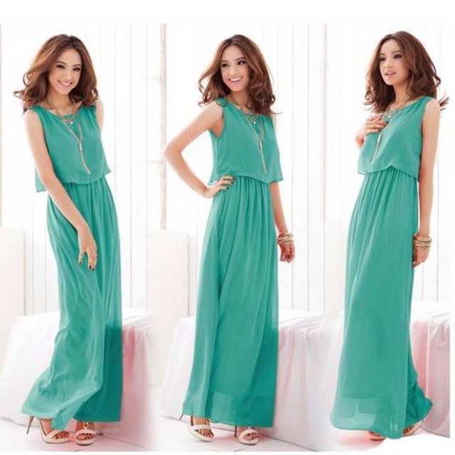 long women girls dresses evening wedding party elegant summer maxi ...