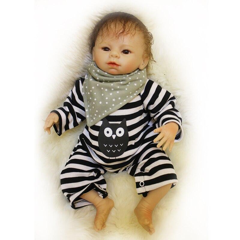 Nicery 20inch 50cm Bebe Doll Reborn Soft Silicone Boy Girl Toy Reborn Baby Doll Gift for