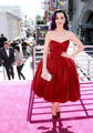 2016 Katy Perry Hot Red Velvet Celebrity Dresses Sweetheart Pleats Tea Length Celebrity Gown formal party short prom gown Dress