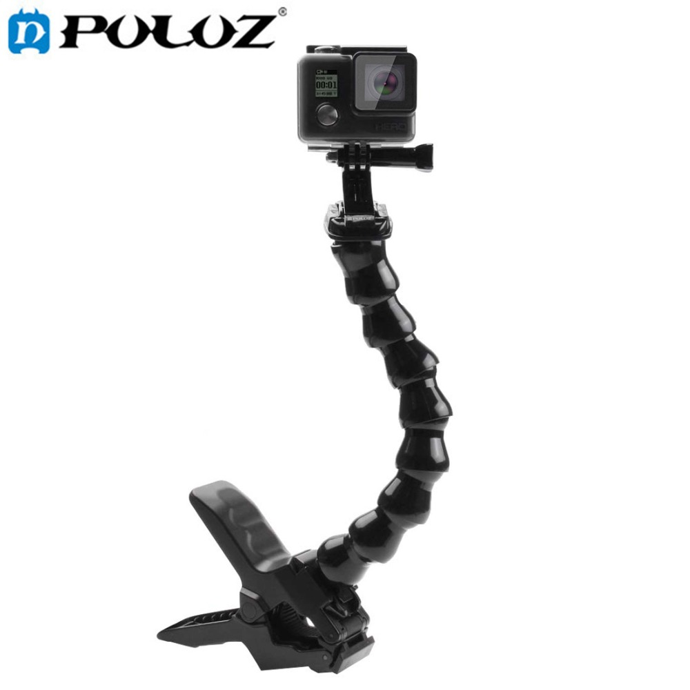 все цены на For Go Pro Accessories Action Sports Cameras Jaws Flex Clamp Mount for GoPro HERO5 HERO4 Session HERO 5 4 3 SJCAM SJ4000 SJ6000