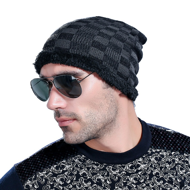 Fashion Hat Winter Hat For Man Skullies Beanies Solid Knitted Hat Warm Cap Men Beanies Cap Elastic Free Shipping free shipping skullies