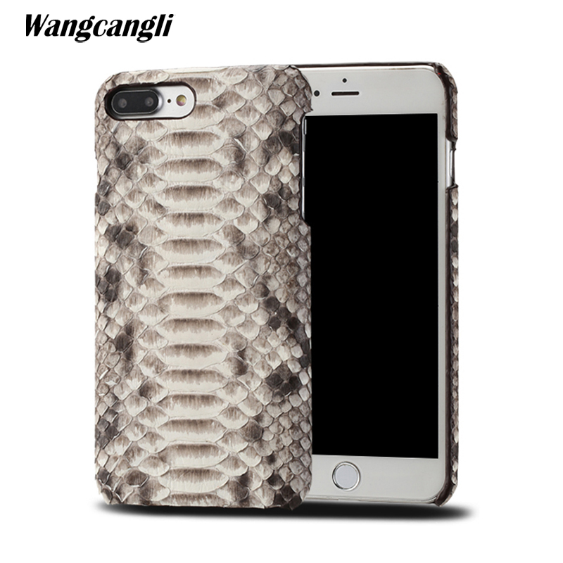 Peau de python étui de téléphone personnalisé haut de gamme pour iPhone 7 plus étui en cuir peau de python couverture arrière pour iPhone x 6 7 8 plus étui